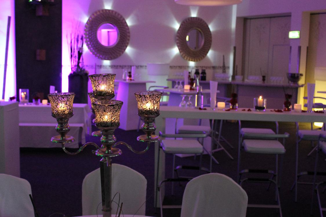 Kerzenstander Bei Hochzeitsfeier Im Festsaal Schutzenhaus