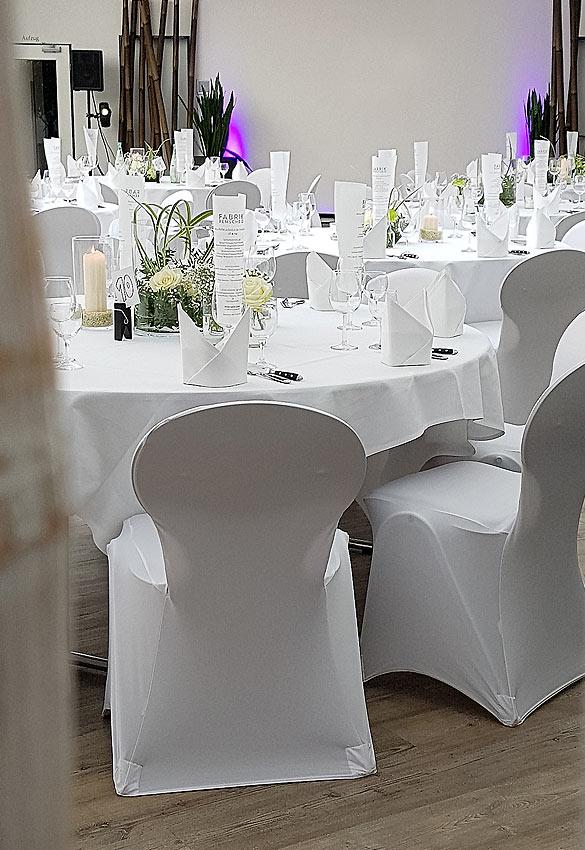 Tischdeko einer Hochzeit in der GenussFabrik Remscheid